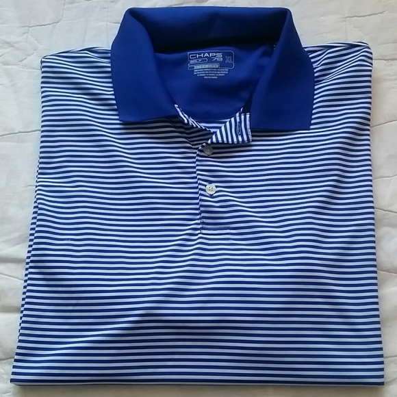 Chaps Mens Natural Stretch Birdseye Polo Shirt Short Sleeve size L XL NEW